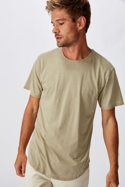 Longline Curve Hem Burnout, BLAIR GREEN