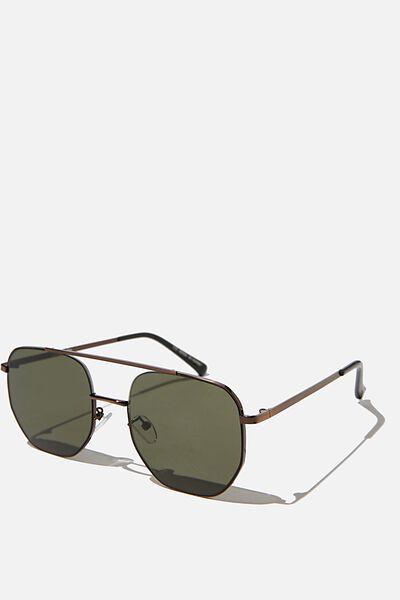 Inverlock Sunglasses, COPPER/MATTE BLACK/GREEN