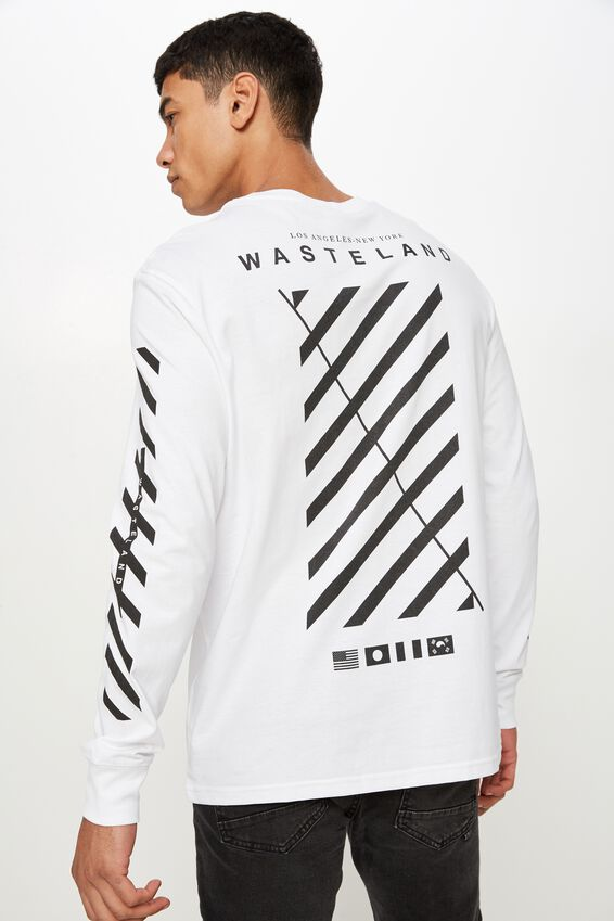 Tbar Long Sleeve, WHITE/WASTELAND WORLDWIDE