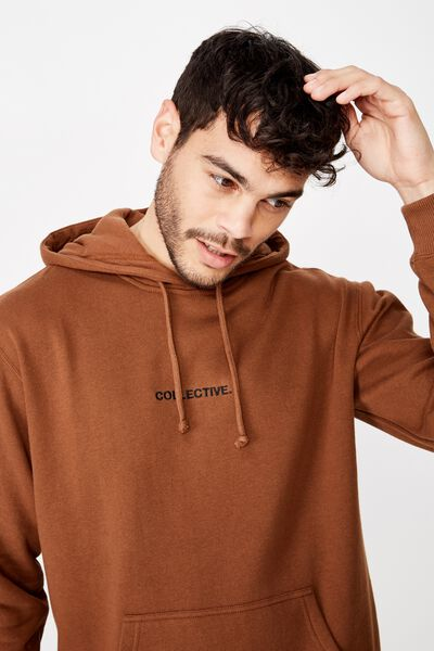 Fleece Pullover 2, DASCHUND BROWN/COLLECTIVE