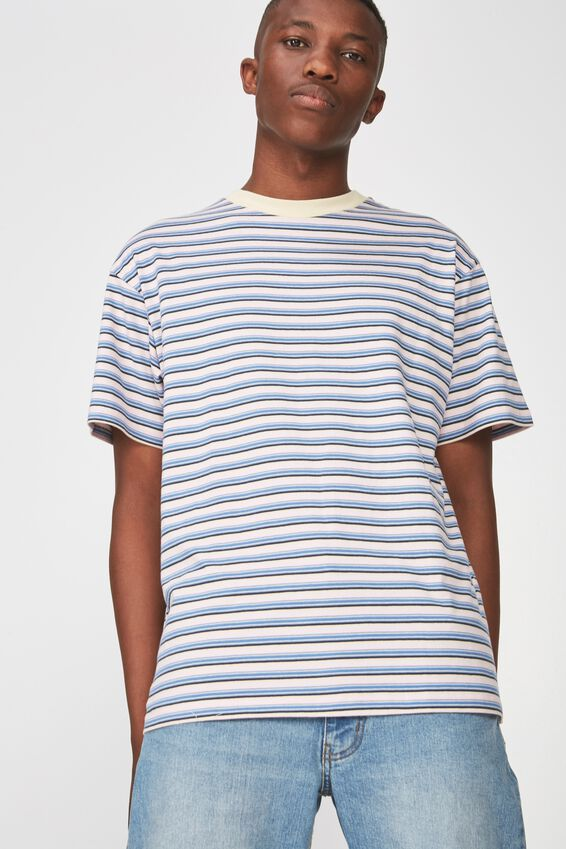 Dylan Tee, PINK/BLUE MULTI STRIPE