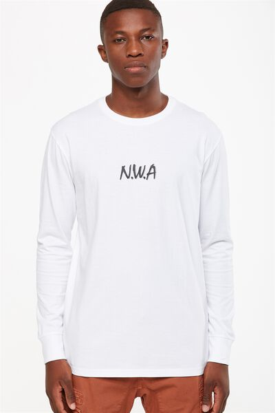 Tbar Collaboration Ls Tee, LC WHITE/NWA SMALL