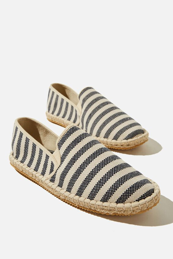 Noah Espadrille Slip On, NATURAL/NAVY STRIPE