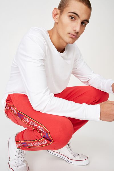 Trippy Slim Trackie, RED/LCN COCA COLA