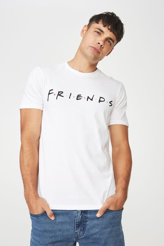 Tbar Collaboration Tee, LC WHITE/FRIENDS - LOGO