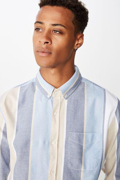Brunswick Shirt 3, NAVY TAN BAY STRIPE