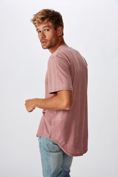 Longline Scoop Burnout T-Shirt, DIRTY BURG