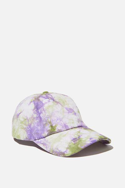 Tie Dye Dad Hat, PURPLE/SAGE/TIE DYE