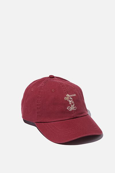 Special Edition Dad Hat, LCN DIS MICKEY FORTUNE/OXBLOOD