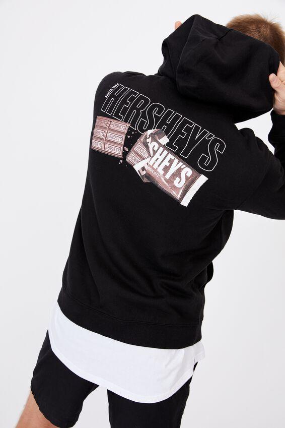 Collab Fleece Pullover, LCN HER BLACK/HERSHEYS KISSES