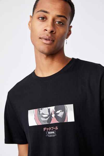 Tbar Collab Movie And Tv T-Shirt, LCN MAR BLACK/DEADPOOL-EYES