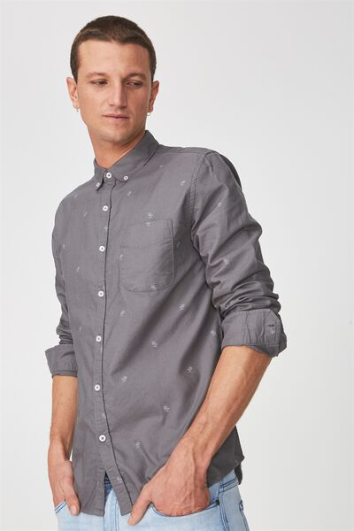 Brunswick Shirt 3, CHARCOAL ROSE