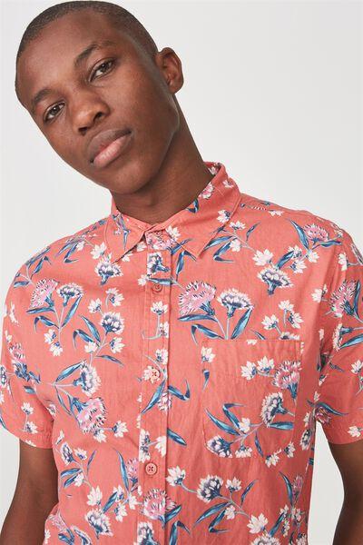 Vintage Prep Short Sleeve Shirt, POP FLORAL
