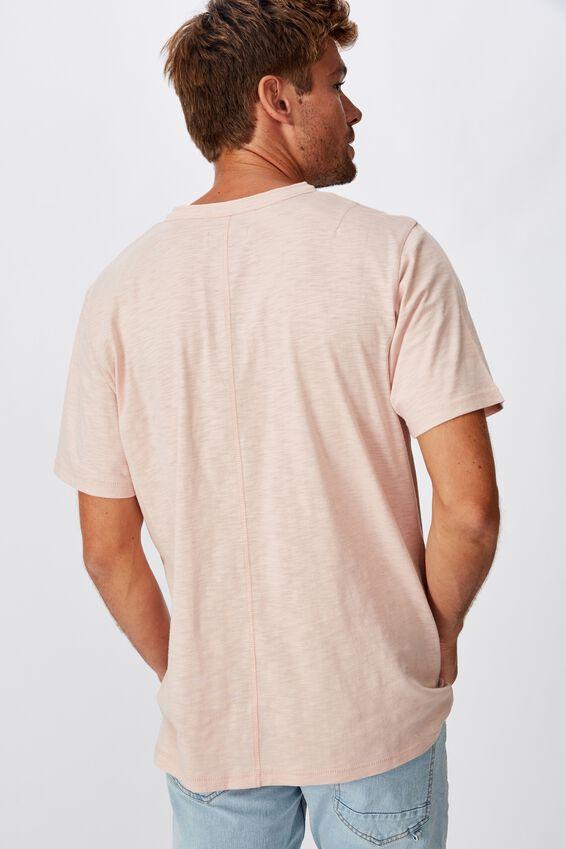 Slub Henley T-Shirt, DIRTY PINK