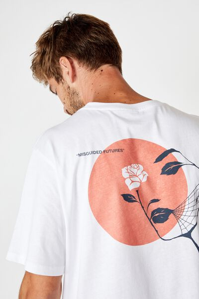 Tbar Art T-Shirt, SK8 WHITE/MISGUIDED FUTURES LIGHT