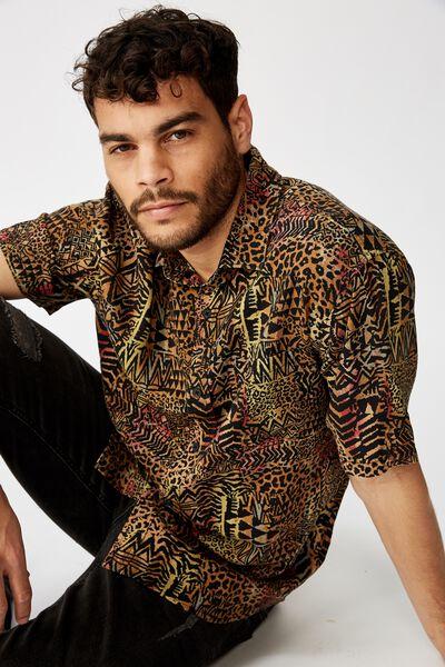 91 Short Sleeve Shirt, MULTI TRIBAL MASH UP