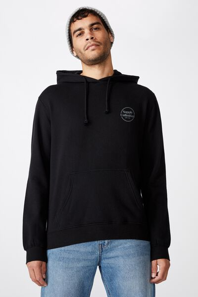 Fleece Pullover 2, BLACK/SUPPLY UNLIMITED