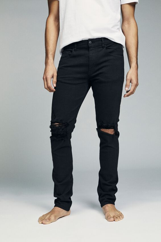 Super Skinny Jean, JET BLACK + BLOW OUT