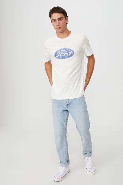 Tbar Collab Pop Culture T-Shirt, LCN FOR VINTAGE WHITE/FORD-VINTAGE LOGO