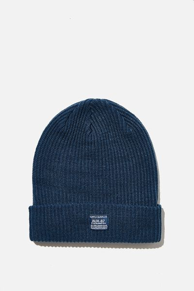 Basic Ribbed Beanie, MOROCCAN BLUE/SUPPLY SURPLUS