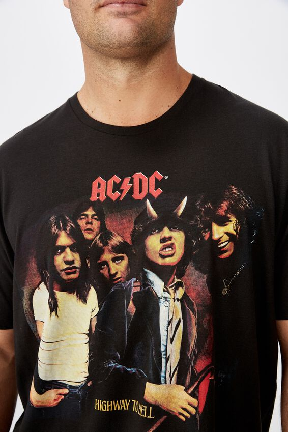 Tbar Collab Tee, LCN PER WASHED BLACK/ACDC - HIGHWAY TO HELL