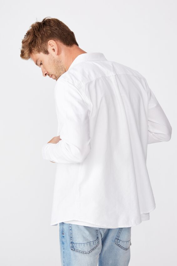 Brunswick Shirt 3, WHITE OXFORD