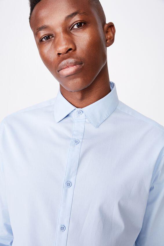 Tailored Long Sleeve Shirt, SKY BLUE