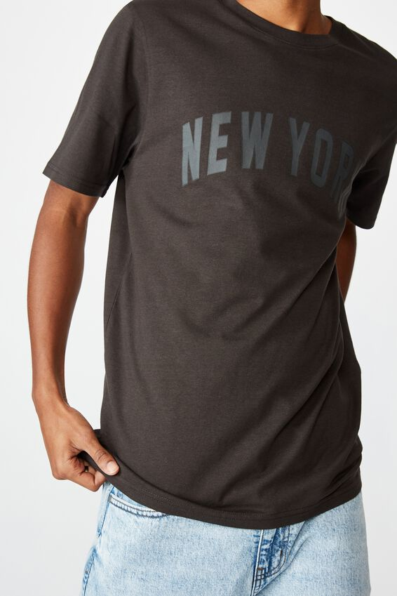 Tbar Sport T-Shirt, WASHED BLACK/NEW YORK ARCH