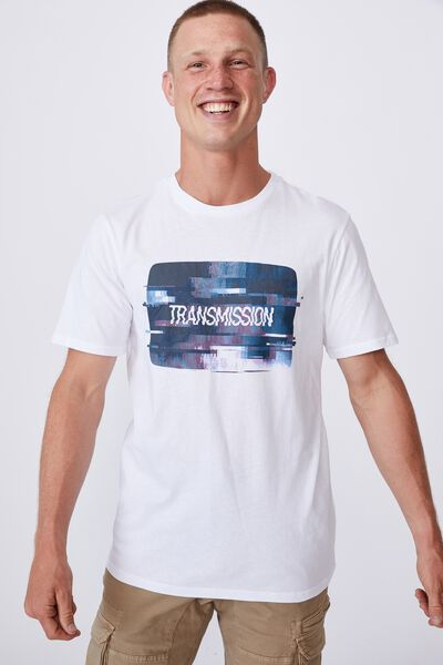 Tbar Art T-Shirt, WHITE/TRANSMISSION