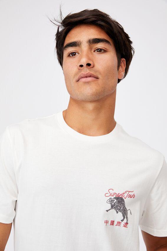 Tbar Cny T-Shirt, VINTAGE WHITE/SOUVENIR MAP