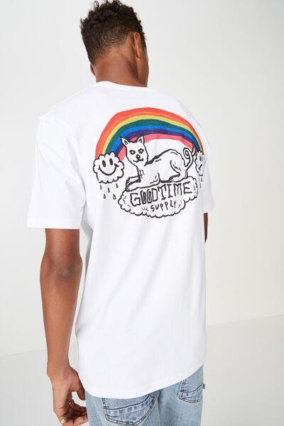Street T-Shirt, WHITE/GOODTIMES RAINBOW