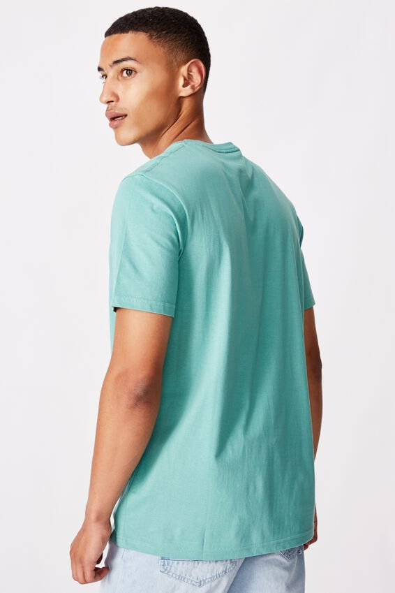 Tbar Text T-Shirt, DUSTY TEAL/MODERN EDITION NYC EMB