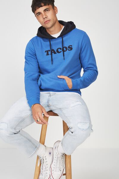 Fleece Pullover 2, BLUE DELIGHT/TACOS
