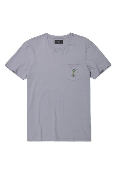 Icon Tee, GREY FOG/TOTALLY CACTUS
