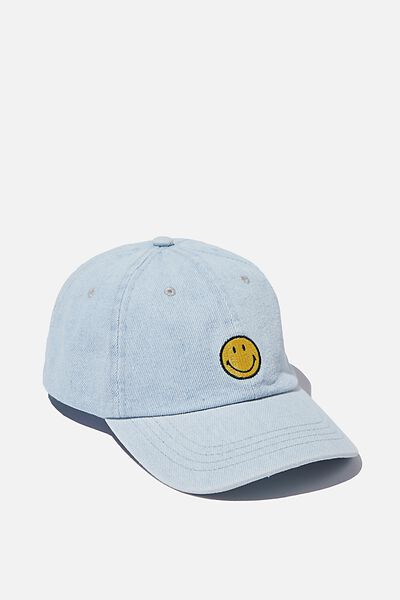 Special Edition Dad Hat, LCN SMI SMILEY ICON/BLUE ACID