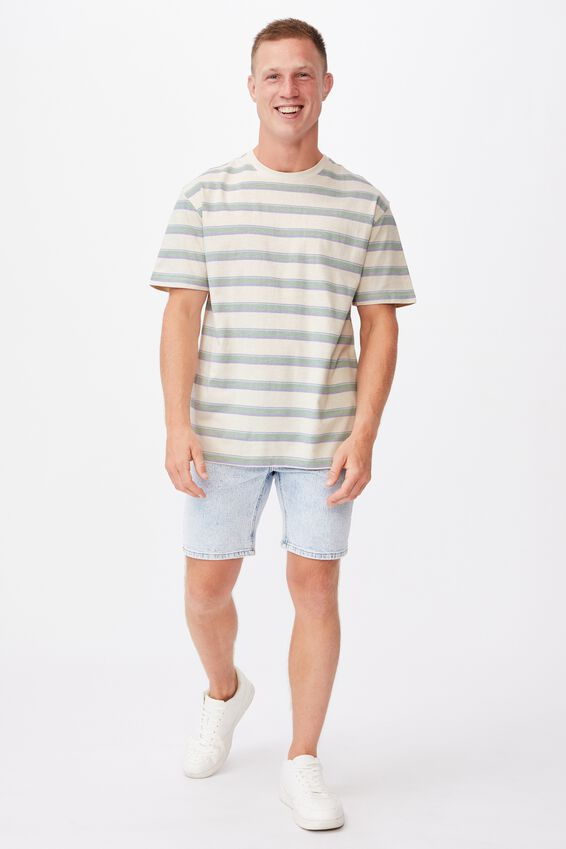 Dylan T-Shirt, BONE 70S STRIPE