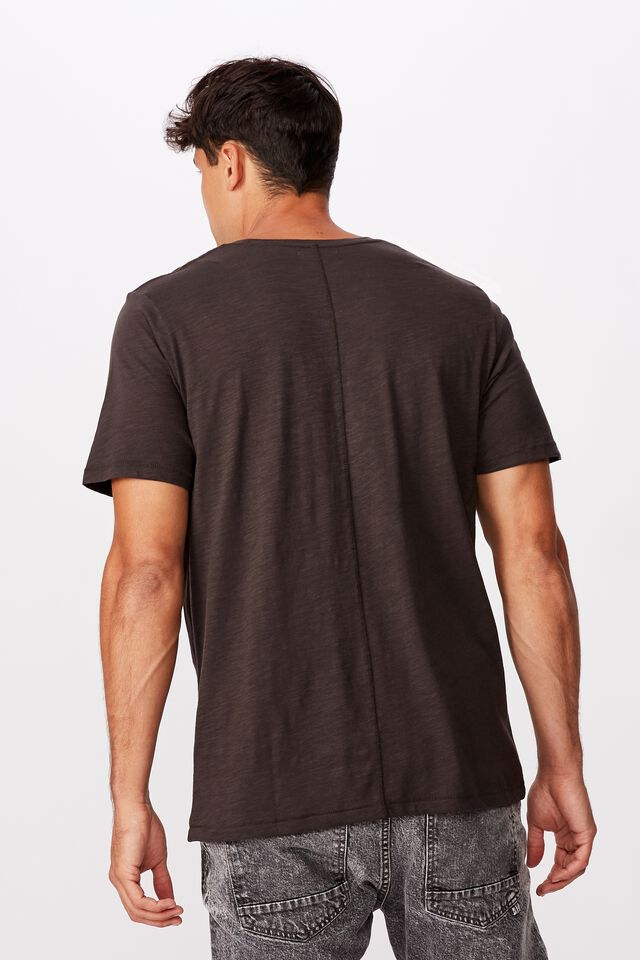 Slub Crew T-Shirt, WASHED BLACK