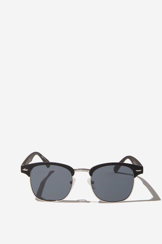 Leopold Sunglasses, BLACK SILVER SMOKE