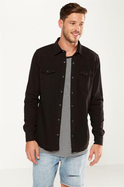 91 Shirt, BLACK WESTERN