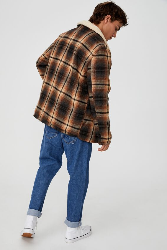 Ranch Jacket, BLACK RUST CHECK