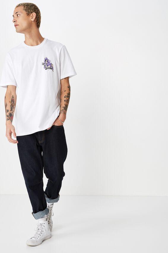 Tbar Art T-Shirt, SK8 WHITE/UP IN SMOKE