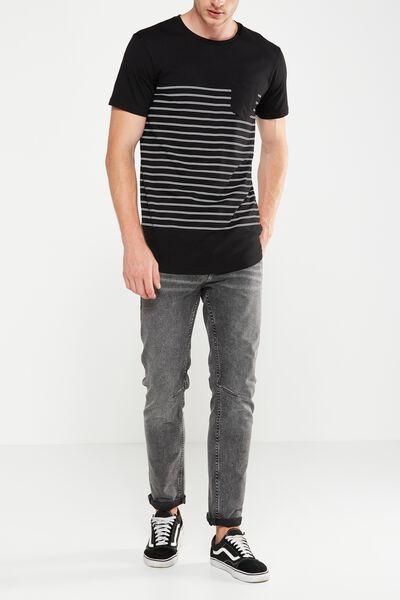 Tapered Leg Jean, PAVEMENT BLACK
