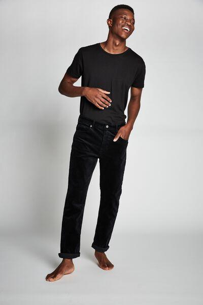 Tapered Leg Jean, BLACK CORD