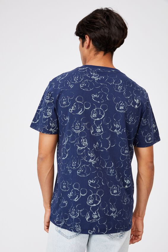 Tbar Collab Character T-Shirt, LCN DIS INK NAVY/MICKEY MOUSE-SKETCH