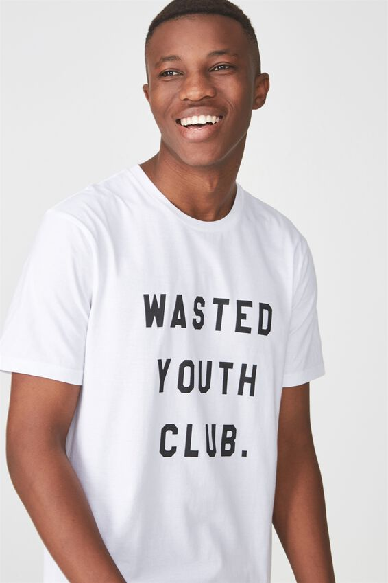 Tbar Tee 2, WHITE/WASTED YOUTH CLUB