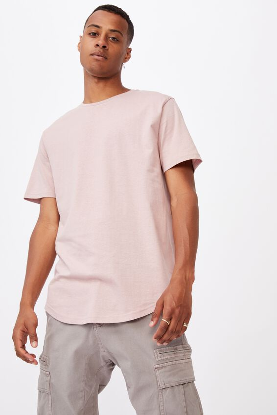 Essential Longline Scoop T-Shirt, DIRTY PINK
