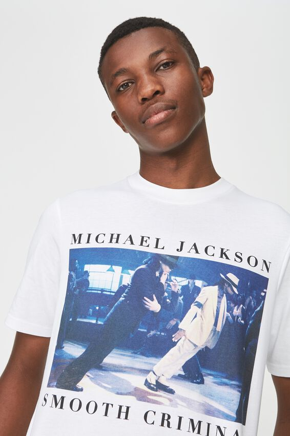 Tbar Collaboration Tee, LC SK8 WHITE/MJ - SMOOTH CRIMINAL