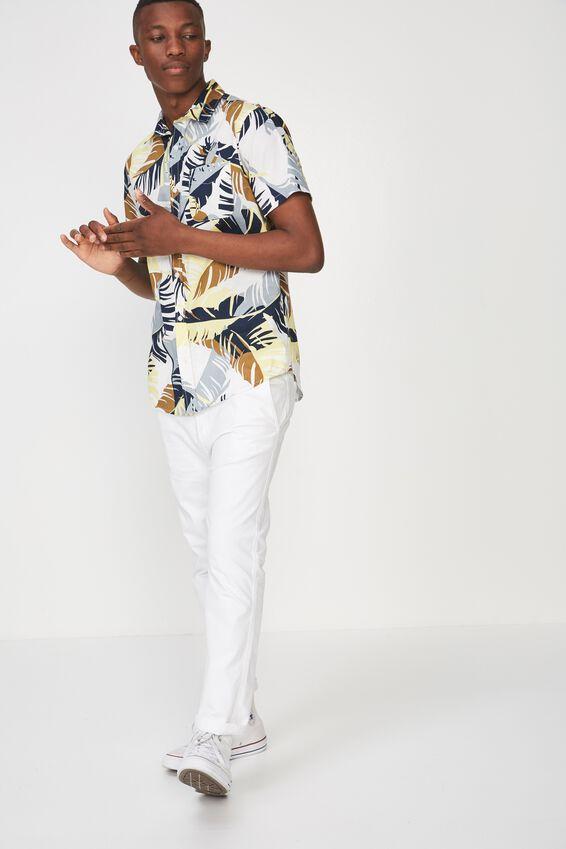 Short Sleeve Resort Shirt, NATURAL FLORAL