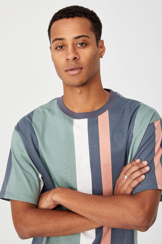 Downtown T-Shirt, DUSTY DENIM PREP STRIPE