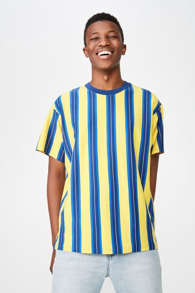 Downtown Loose Fit Tee, SAFETY YELLOW/LIMOGES BLUE/BLUE DELIGHT/WHITE VERT